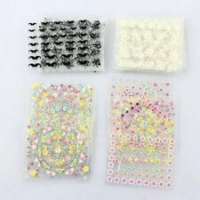 50 Blatt 3D Nail Decals Tipp Nail Art Sticker Mix Farbe selbstklebende Aufkleber