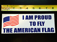I Am Proud To Fly The American Flag Vehicle Magnet
