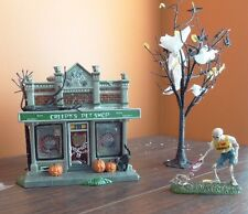 Dept 56 Creepys Pet Shop Store Dog Cat Tree Halloween Village Time To Celebrate