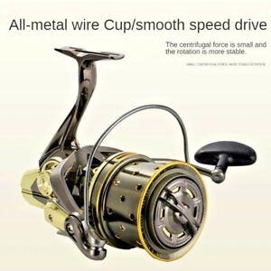 Long Range Fishing Reel Wheel Roller Coil 11 Bearing 25kg Drag 4.7:1 Metal Spool