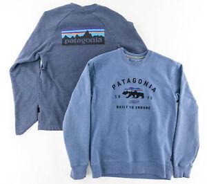 Patagonia Mens Small Uprisal Crew Neck Sweatshirt & Long Sleeve Logo Shirt Lot 2