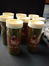 "Vintage Georges Briard Plastic Tumblers Set of 8 Multi Colored 6 1/2"" Tall"