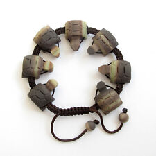 Natural Stone Gem Long Life Turtle Tibet Buddhist Prayer Beads Mala Bracelet