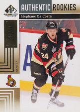 11-12 SP Game Used GOLD xx/50 Made! Stephane DA COSTA #157 - Senators Rookie
