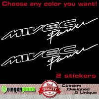 MIVEC POWER vinyl decal sticker mitsubishi ralliart evolution fq colt evo lancer