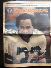 """"""" NFL Dallas Cowboys Official Weekly Magazine January, 24, 1981; Vol. 6, No. 32"""