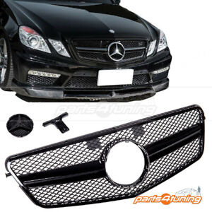 MERCEDES BENZ E-CLASS W212 2009-2013 FRONT GRILLE GLOSS BLACK AMG STYLE