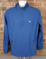 Guy Harvey Men's Size Medium Blue 1/4 Zip Pullover Sweater Shirt