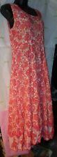 $60 India Classic paisley sun tank dress medium top multi color pleat crinkled