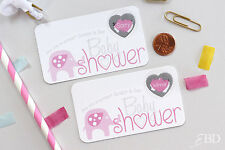Pink Elephant Baby Shower Scratch Off Game Cards - Baby Shower Game