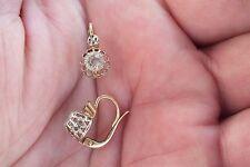 Boucles d'oreilles Dormeuses Or 18c    Antique s.gold  earrings - vers 1930
