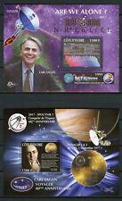 Côte d'Ivoire 2017 neuf sans charnière Carl Sagan Cosmos Spoutnik Seti 2x 1 V S/S Espace timbres
