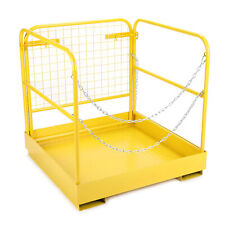 New listing 749lbs Capacity Forklift Safety Cage Steel Work Platform 36x36'' Heavy Duty Bpt