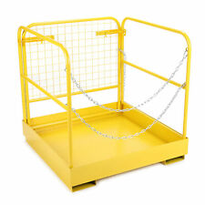 Capacity Forklift Safety Cage Steel Work Platform 36x36'' Heavy Duty 749 lbs