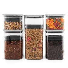 Planetary Design AirScape Lite 5 Pack Food Storage Canister Set - Airtight Lid