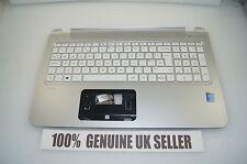 WORKING Genuine HP Pavilion 15-P078sa Qwerty Palmrest UK Keyboard SILVER