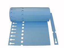 100x Schlaufenetiketten 1,3x14cm blau Etiketten Pflanzschilder Pflanzenschilder