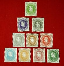 {DENMARK< Scott #210-219< Mint Set< F-VF< No Thins<CV $110.00!>/Bargain Sales!}