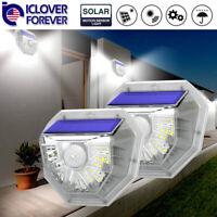 2Pack LED Solar Lamp Waterproof PIR Motion Sensor Outdoor Garden Yard Wall Light