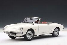 1965 ALFA ROMEO 1600 DUETTO SPIDER WHITE BY AUTOart 1:18 #70136 BRAND NEW IN BOX