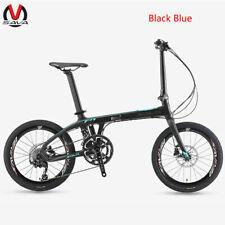SAVA 20'' Mini Foding Bike T700 Carbon Fiber Frame Bicycle Foldable 9S Blue Z1