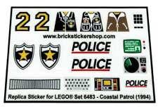 Precut Custom Replacement Stickers voor Lego Set 6483 - Coastal patrol (1994)
