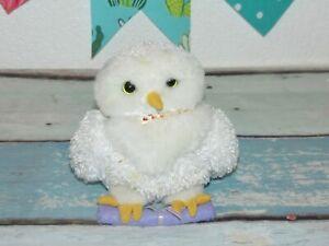 "VTG Gund Harry Potter Plush Owl Hedwig Perched Scroll Mini Stuffed Animal Toy 5"""