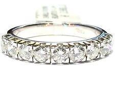 anello veretta in oro bianco18 kt con 9 diamanti ct 1,04 G VVS1 n 13,5 gr 3,60