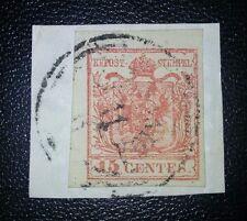 ANTICHI STATI Lombardo Veneto 15 cent Carsaniga su fr. 5 pt