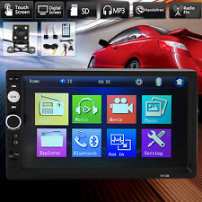 "7"" 2 DIN Car MP3 Player Stereo Head Unit Bluetooth Radio FM USB+Free Camera AU"