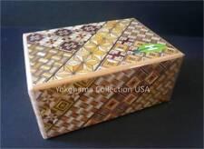 SAMURAI WoodenYosegi Secret Trick Puzzle Magic Medium Box 7 Step/HK-122
