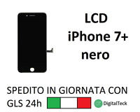 TOUCH SCREEN LCD DISPLAY RETINA PER APPLE IPHONE 7 PLUS NERO SCHERMO CON FRAME