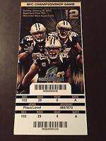 "New Orleans Saints 2014 ""Phantom"" NFC Championship ticket stub"