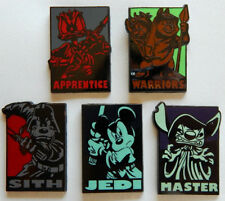 5 STAR WARS DISNEY TRADING PIN LOT heroes vs. villains mickey stitch donald chip