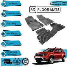 3D Molded Interior Car Floor Mat for Dacia Duster 2WD 2010-2017(Black)