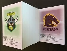 2018 NRL ELITE MINI BASE SET TRADING CARDS - MINI SET 144 COMMON CARDS