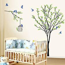 Árbol, aves, jaula de pegatinas de pared. Vivero, Dormitorio, guardería, Cocina, Niño