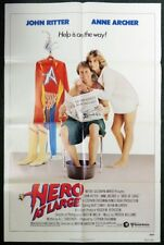 ESZ3233 Vintage HERO AT LARGE John Ritter Theatrical One Sheet Movie Poster 1980