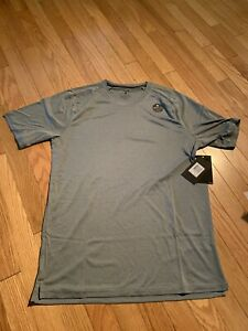 Hurley Icon QD Tee Short Sleeve Rashguard Swim Tee Heather Gray Mens M NWT $40