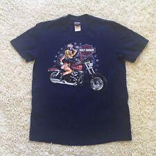 Harley Davidson Mens Kuwait American Girl Motorcycle T Shirt Size Large