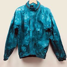 Frog Frogg Toggs Rain Gear Jacket Outerwear Blue Hooded Button Up Medium