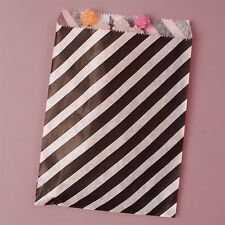 60ct. Fun Black & White Striped Favor Paper Sleeves Candy & Treat Bags