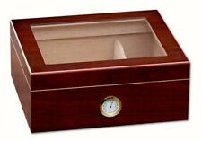 Prestige Import Group Chalet Glasstop Cherry Cigar Humidor