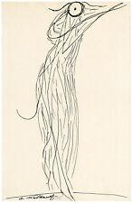 ABRAHAM WALKOWITZ, 'ISADORA DUNCAN II', pen & India ink, 1918