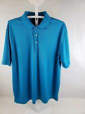 Pre-Owned PGA Tour Men's Polo Shirt XL Aqua Blue Golf Clothing Style