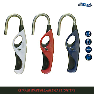 CLIPPER WAVE FLEXIBLE Refillable Long Reach Nose Gas Lighter. Perfect for Candle