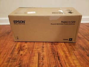 New Epson Projector 520 V11H674020 PowerLite Short Throw LCD Projector 4:3 White