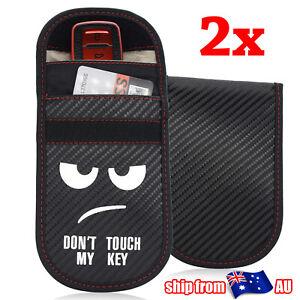 2X Car Key Signal Blocker Blocking Bag Keyless Case Faraday Cage Pouch RFID AU