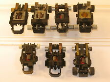 HO Slot Car Mixed Lot of 7 Drive Chassis with Issues Aurora ULTRA 5 TYCO Other