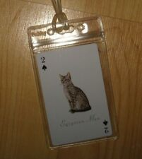Egyptian Mau Luggage Tag - Spotted Cat Friskies Fancy Feast Recycle Playing Card